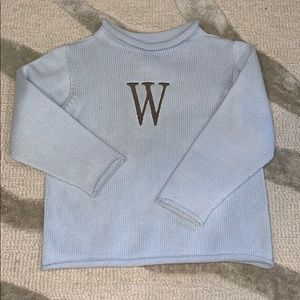 Boys monogrammed sweater. W
